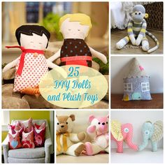 25  Adorable DIY:: Dolls and Plush Toys