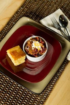 Healthy chili and Nutrimeal cornbread? Amazing.