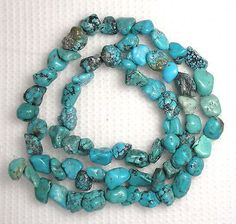 Turquoise-6mm-to-7mm-Nugget-Beads-Blue-Gemstome-Craft-Jewelry-16-Strand-590