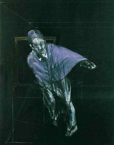 FRANCIS BACON    3 VERSIONS (3/3)    Study for a Pope, 1955    Medium  Oil on canvas    Dimensions  152.5 x 116.5 cm