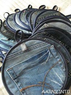 Van oude jeans naar pannenlap.