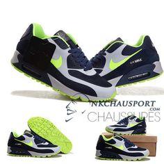 the latest 8d966 79399 Nike Air Max 90 2014   Meilleur Chaussures Running Homme Blanche Bleu Marine