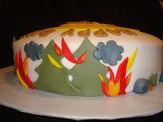 smokey the bear cake   Smokey the Bear kake