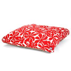 Plantation Rectangle Bed L Red from Majesticpets.com....LOVE this pattern!