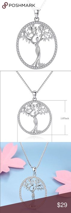 🆕 Family Tree of Life CZ Pendant Necklace 🆕 Family Tree of Life CZ Pendant Necklace Jewelry Necklaces