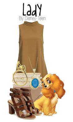 """""""Lady"""" by disney-teen ❤ liked on Polyvore featuring Glamorous, Charlotte Russe, Alexander Wang, Betty Carré, disney, disneybound, disneyfashion and LadyAndTheTramp"""