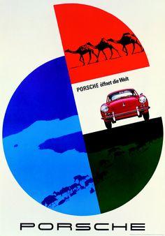Porsche 356 original poster art
