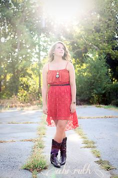 lace & boots; sun flare - photo shoot ~ micaliah sweet sixteen portraits » Abi Ruth