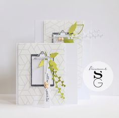 simply graphic: un duo chic Die Cut Cards, Making Ideas, Card Making, Lettering, Graphic Design, Chic, Simple, Card Designs, Crafts