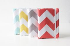 Business Card Holder, Gift Card Holder, Card Case, Credit Card Organizer - Coral or Choose an Other Color - Chevron