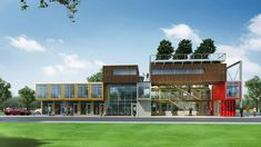 The three-story office park in Fort Worth will be developed using 40 shipping containers.