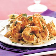 Shrimp Recipes Under 200 Calories  | Shrimp with Creamy Orange-Chipotle Sauce | MyRecipes.com