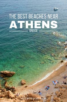 Discover the best beaches near Athens, Greece. White sand, crystal clear water and ancient temples just a stone throw away. Mykonos Greece, Athens Greece, Crete Greece, One Summer, Summer Travel, Beach Travel, Athens Beach, Greece Travel, Greece Vacation