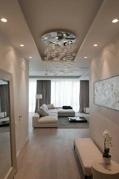 Top Modern Living Room Interior Designs and Furniture Home Living Room, Interior Design Living Room, Living Room Designs, Living Room Decor, Plafond Design, House Design, House Styles, Home Decor, Decorating Ideas