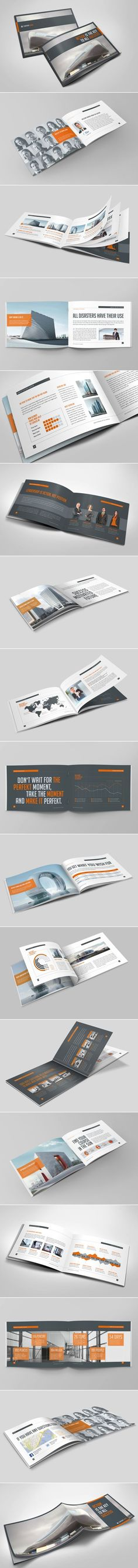 Buy Business Horizontal Brochure by mikinger on GraphicRiver. Business Horizontal Brochure This is the DIN corporate brochure out of my Business series. Design Typo, Web Design, Layout Design, Design Art, Design Ideas, Graphic Design Brochure, Brochure Design Inspiration, Layout Inspiration, Corporate Brochure Design