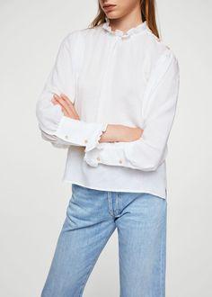 Ruffled puff sleeves blouse | MANGO