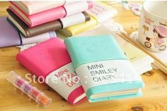 Stationery Diary Book Notepad Notebook Memopad Agenda Travel Planner Journal   mini smile candy color        wholesale retail-in Notebooks f...