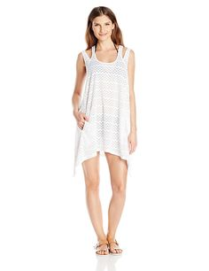 7c0927bdc2 J. VALDI Women s Zig Zag Double Strap Dress Cover Up at Amazon Women s  Clothing store