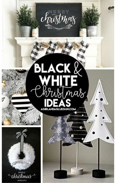 I love color. LOVE it. But when it comes to Christmas I usually stick with red and green…maybe even some gold. I don't really associate black and white Christmas colors. BUT after seeing this roundup… I'm totally rethinking everything! Black and white is gorgeous! Paired with a green tree….heart eyes! Black and White Christmas Tree …