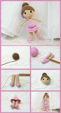 como hacer muñecas tejidas paso a paso Crochet Panda, Crochet Elephant, Crochet Teddy, Easter Crochet, Crochet Bear, Crochet Toys, Crochet Bird Patterns, Crochet Headband Pattern, Christmas Knitting Patterns