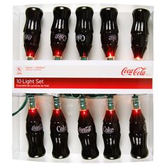 coca cola bottle light set