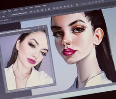 "468 aprecieri, 8 comentarii - ELIANA BOGDAN (@elianabogdan) pe Instagram: ""Turning people into art since 97😏 #illustration #digitalart #portrait"""