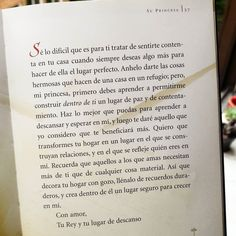 """Mi princesa llena tu hogar de paz"" Nueva #CartaDeAmor de Dios para ti"