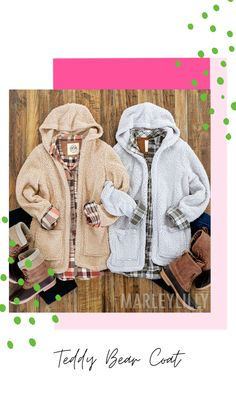 Cozy up on cool days with this teddy bear coat from Marleylilly. The super-soft Sherpa material feels just as inviting as warm blanket. A looser fit allows you to achieve a casual yet chic style. The convenient hood and two roomy pockets in front complete this classic women's Sherpa coat. Whether you're out running errands, meeting friends for coffee or just kicking back on the couch at home, you'll feel oh-so snuggly in this soft coat from Marleylilly.