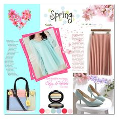 """""""Yesstyle -spring look"""" by e-mina-87 ❤ liked on Polyvore featuring Flobo, Pastel Pairs, HotBlock, Nails Inc., Giorgio Armani, Kurt Geiger, women's clothing, women, female and woman"""