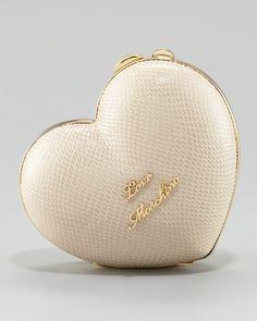Love Moschino Heart Box Clutch, $195, at Neiman Marcus