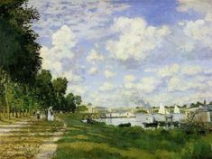 We saw a wonderful exhibit at the Hartford Atheneum of the impressionist at Argenteuil. This was my favorite of the paintings.