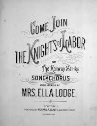The Knights of Labor is a labor union that consisted of both skilled and unskilled workers.  It was founded in 1869.