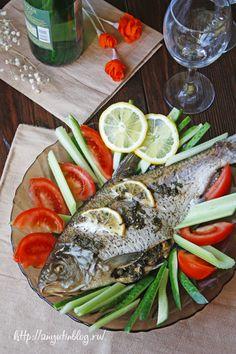 Фаршированный лещ. #food, #recipes, #fish