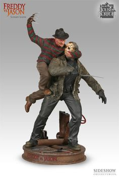 Freddy VS Jason Scream Scene Polystone Diorama