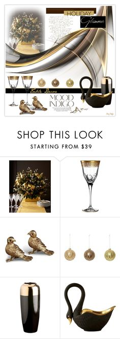 """Two Turtle Doves ... Seven Swans a Swimming ..."" by mcheffer ❤ liked on Polyvore featuring interior, interiors, interior design, home, home decor, interior decorating, ANNA, Mario Cioni, L'Objet and Dot & Bo"