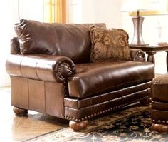 Ashley Durablend Antique Oversized Chair Bryan Would Love This Traditional Living Room Furniture