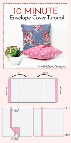 how to make cushion covers | gotta be able to remove and wash them, or just switch your covers out seasonally!