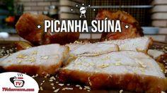 Essa receita é muito prática e fica sensacional, você vai precisar de 1 Peça de Picanha Suína,  Sal a gosto...confira os demais ingredientes no site:http://www.tvchurrasco.com.br/site/receita/picanha-suina