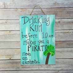 Rum Sign Porch Sign Patio Decor Tiki Bar by ThePeculiarPelican
