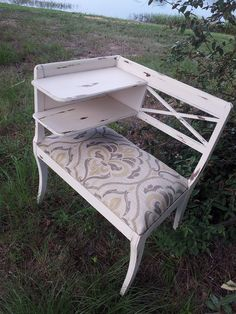 gossip bench telephone chair distressed