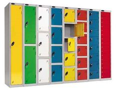 Steel Probe Lockers - available in loads of colours, sizes and configurations.