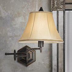 Hexagon Swing Arm Plug-In Wall Lamp  $99.99