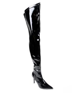Womens Black Thigh High Boots – Spirit Halloween