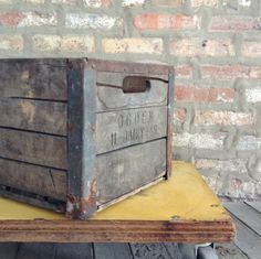 Vintage Wooden Crate, Wooden Dairy Crate, Wood Box — Fixed price $38