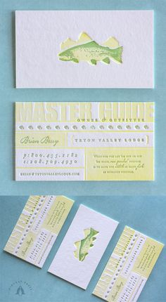 Beautiful Nature Themed Two Colour Letterpress Business Card