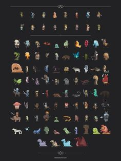 Pixel Art Characters - Words for Evil - http://www.wordsforevil.com/