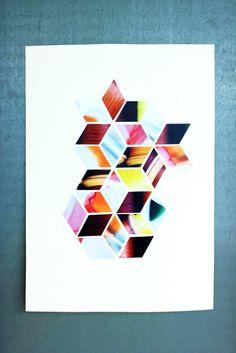 DIY – Geometric Poster Asanoha Style #howto #tutorial