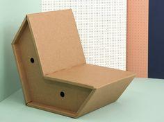 Silla de cartón OTTO by pulpo, Ursula L'hoste diseño Peter Raacke