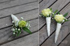 Hochzeitsanstecker, Blumenanstecker für Bräutigam   weddstyle
