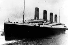 This vivid image was taken just before the Titanic set sail, as she leaves her port of origin, Southampton. No one knows what caused the fatal crash precisely, while many believe it had something to do with low grade rivets.